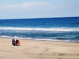 海に向かって祈る